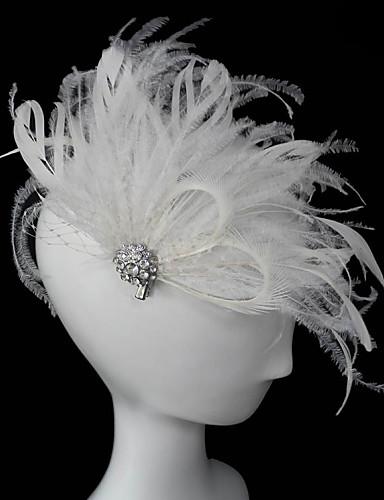 abordables Chapeau & coiffure-Cristal / Plume / Tissu Diadèmes / Fascinators avec 1 Mariage / Occasion spéciale / Fête / Soirée Casque