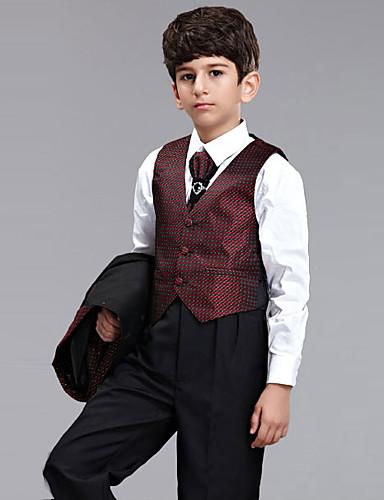 Mélange polyester/coton Costume de Porteur d'Alliance - 5 Pièces Comprend Veste / Chemise / Pantalons / Longue Cravate