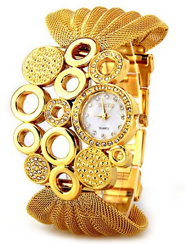 Women's Quartz Wrist Watch Casual Watch Metal Band Dress Watch Elegant Silver Brown Gold