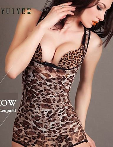 YUIYE® High Quality Summer Super Thin Mesh To Strengthen Functional Fat Burning Body Sculpting Shapewear Leopard Color
