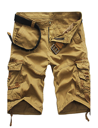 cheap Men's Pants & Shorts-Men's Military Plus Size Straight Shorts Pants - Solid