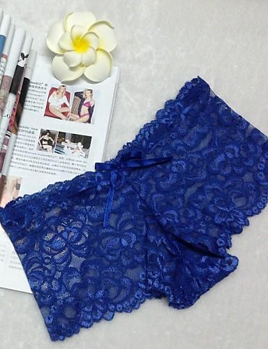 Women's Ultra Sexy Panties Shorties & Boyshorts Panties - Lace, Jacquard Low Waist
