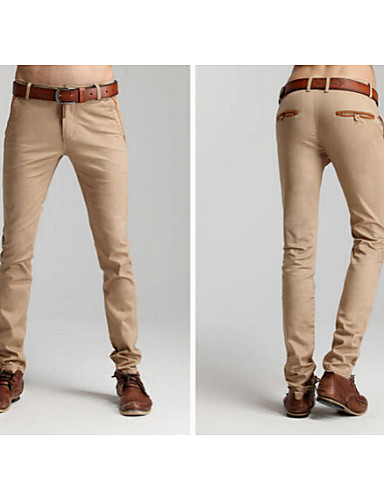 Homme Costume Mince Pantalon, Coton Imprimé