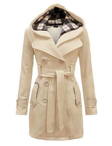 Alkalmi Női Kabát - Egyszínű, Kockás mintás