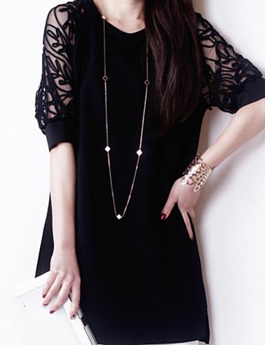 Damen Anspruchsvoll Etuikleid Kleid - Spitze, Solide Übers Knie