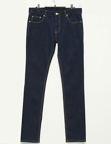 Homme Basique Pantalons Pantalon Couleur Pleine
