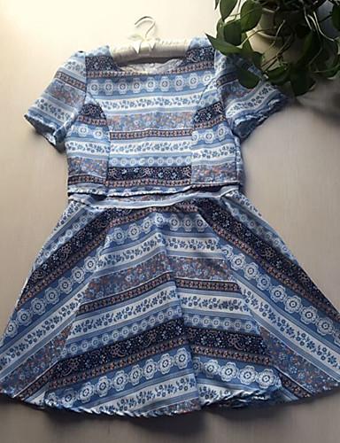 Damskie Urocza Spódnica Sukienka Kwiat Nadruk Mini