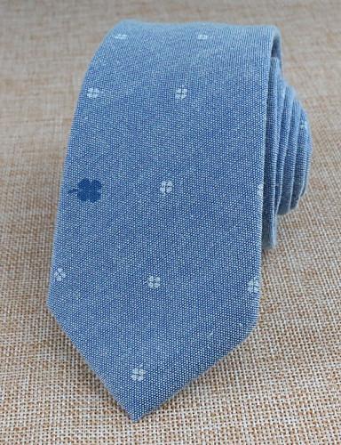 Unisex Cotton Necktie,Vintage Party Work Casual All Seasons Light Blue