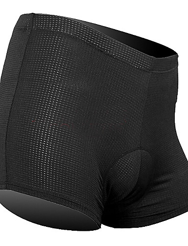 cheap Cycling Clothing-SANTIC Men's Women's Cycling Under Shorts - Black Solid Color Bike Underwear Shorts Padded Shorts / Chamois Bottoms Breathable Sports Tactel Silicon Mountain Bike MTB Road Bike Cycling Clothing