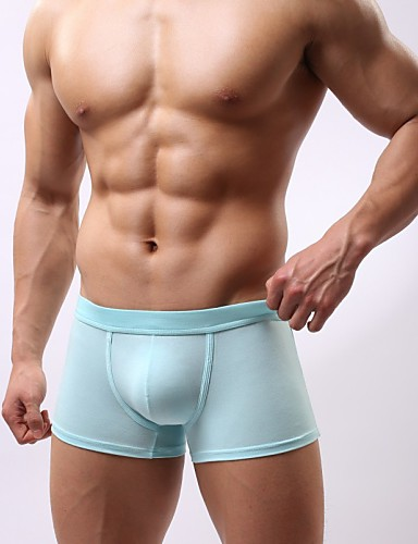 Men's Super Sexy Boxer Briefs Solid Colored