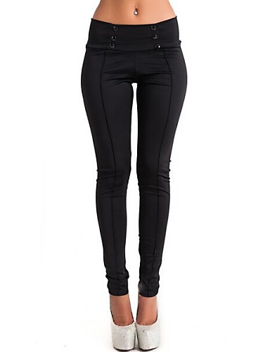 Women's Mid Rise Inelastic Straight Jeans Pants Solid Summer