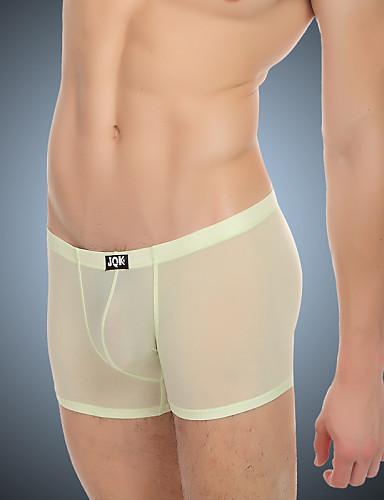 voordelige Herenondergoed & Zwemkleding-Synthetische zijde Effen - Super Sexy Boxer shorts Heren 1 Stuk