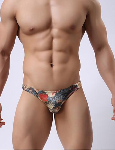 Men's underwear Low waist small triangular Royal printing Men's underwear appeal personality