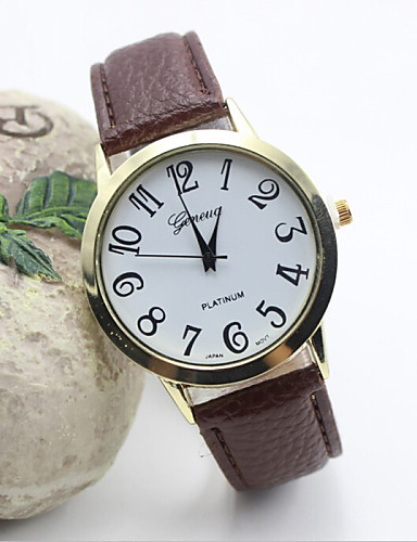 Women's Fashion Watch Quartz Hot Sale Leather Band Charm Black White Red Brown Rose