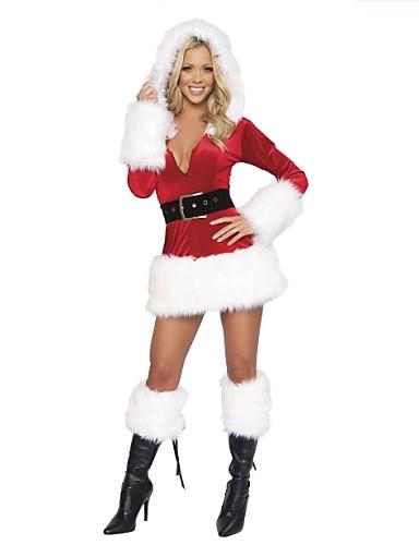 voordelige Shall We®-Optredens Outfits Dames Optreden Polyester Veren / Bont 2-delig Kerstmis Kleding Riem