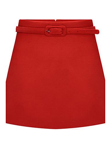 Plus veličine / Seksi Ženski Suknje - Iznad koljena , Neelastično Pamuk