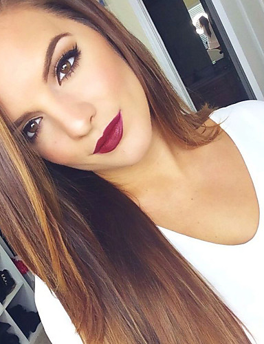 abordables Perruques Naturelles Dentelle-Perruque Cheveux Naturel humain Lace Frontale Cheveux Brésiliens Droit Femme Densité 120% 150% 180% 18 pouce avec des cheveux de bébé Cheveux Colorés Ligne de Cheveux Naturelle Perruque / Droite