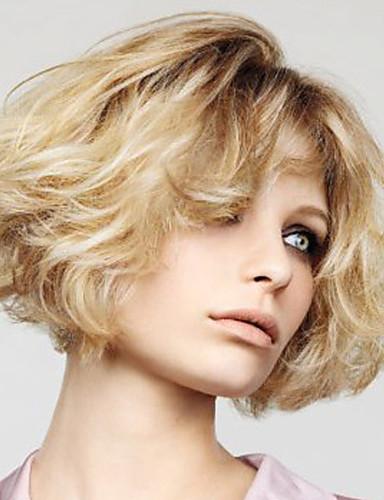 povoljno Perike s ljudskom kosom-Ljudska kosa Lace Front Perika stil Brazilska kosa Wavy Perika 120% Gustoća kose 10 inch s dječjom kosom Ombre Prirodna linija za kosu Afro-američka perika 100% rađeno rukom Žene Kratko Perike s