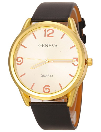 Women's Casual Design PU Band Quartz Wristwatch Cool Watches Unique Watches