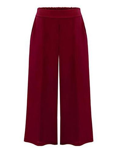 Pentru femei Mărime Plus Size Talie Medie,Micro-elastic Picior Larg Blugi Pantaloni Bumbac Mată Primăvară