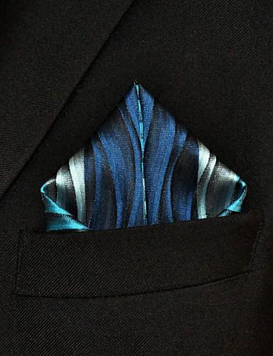 Herre Kontor Grunnleggende Pocket Squares Stripet Rayon