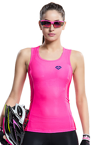 cheap Cycling Clothing-SANTIC Women's Sleeveless Sports Tank Top - Pink Bike Vest / Gilet / Jersey, Breathable, Quick Dry, Ultraviolet Resistant Solid Colored / High Elasticity / Advanced Sewing Techniques
