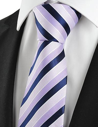 עניבת צווארון - פסים, כותנה חוטי זהורית פוליאסטר וינטאג' חמוד מסיבה עבודה יום יומי בגדי ריקוד גברים