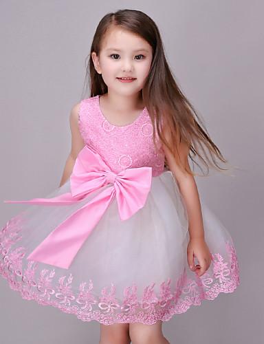 여자의 드레스 캐쥬얼/데일리 여름 / 봄 / 가을 폴리에스테르 핑크