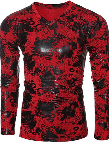 Herrn Solide - Chinoiserie T-shirt, Rundhalsausschnitt Baumwolle