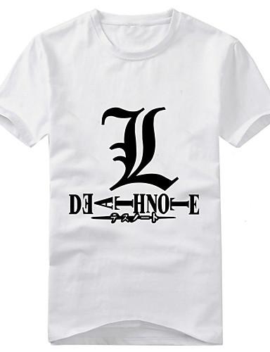 povoljno Anime kostimi-Inspirirana Death Note Yagami Raito Anime Cosplay nošnje Japanski Cosplay majica Print Kratkih rukava T-majica Za Muškarci / Žene