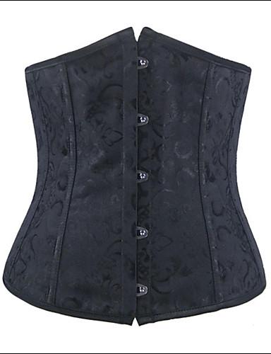 여성제품 언더버스트 코르셋 잠옷 자카드-여성의 폴리에스테르 / 스판덱스 / 모달섬유 블랙