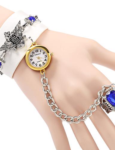 Mulheres Relógio de Moda Bracele Relógio Quartzo PU Banda Boêmio Elegantes Preta Branco Marrom
