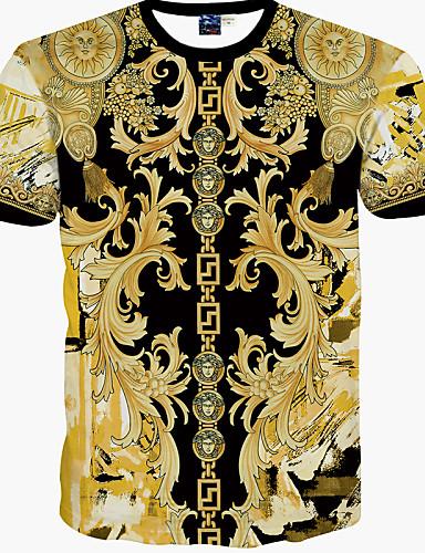Majica s rukavima Muške Ležerno/za svaki dan Print-Kratkih rukava Pamuk