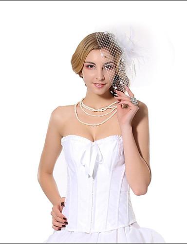 여성제품 오버버스트 코르셋 잠옷 자카드-여성의 나일론 / 스판덱스 / 모달섬유 화이트