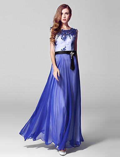 Ball gown helmi kaulakoru nilkkapituus tulle prom mekko kirjonta