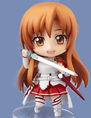 baratos Cosplay Anime-Figuras de Ação Anime Inspirado por Sword Art Online Asuna Yuuki PVC 9.5 CM modelo Brinquedos Boneca de Brinquedo