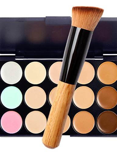 hesapli Makyaj Setleri-15 Renk Kapatıcı Haki Kapatıcı / Kontur 1 pcs Kuru / Islak / Mat Su Geçirmez / Nefes Alabilir / Beyazlatıcı Vücut / Yüz Makyaj Kozmetik