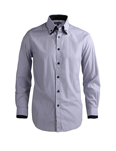 JamesEarl 남성 셔츠 카라 긴 소매 셔츠 & 블라우스 그레이-DA112046721