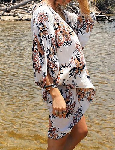 Damen Cover-Up Einteiler - Moderner Stil, Mehrfarbig Reaktiver Druck Halter Tie Side Bikini