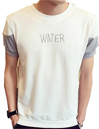 Herren Buchstabe Lässig/Alltäglich T-shirt Kurzarm Baumwolle
