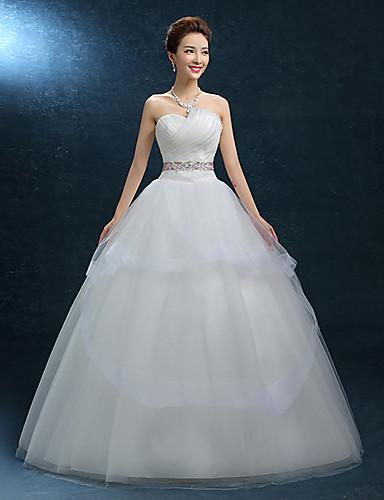 A-Linie Sweetheart Boden-Länge Spitze Tüll Hochzeitskleid mit Spitze durch