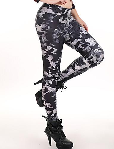 Damen Alltag Übergrössen Grundlegend Legging - Geometrisch, Druck Mittlere Taillenlinie