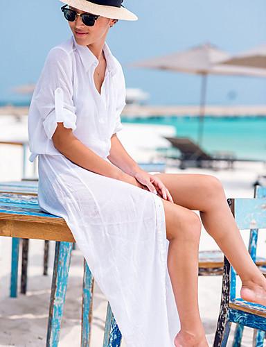 Damen Einteiler / Strandkleidung - Einfarbig Einzelteil Chiffon Halfter