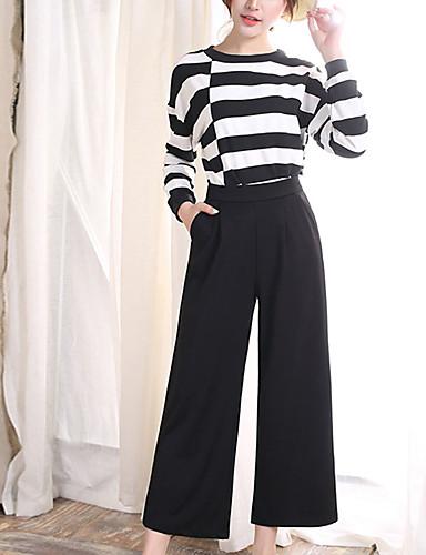 Damen Übergrössen Mikro-elastisch Breites Bein Jeans Hose,Polyester Sommer Solide