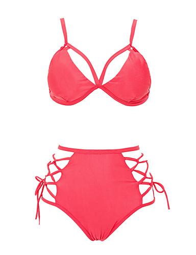 Damen Bikinis - Einfarbig Baumwolle Stirnband