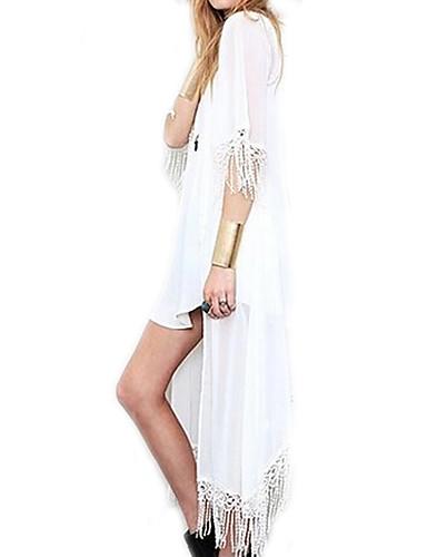 Une-pièce / Vêtement couvrant Aux femmes Franges Licou Mousseline de soie