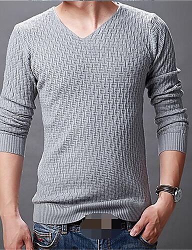 אחיד - סוודר שרוול ארוך בגדי ריקוד גברים