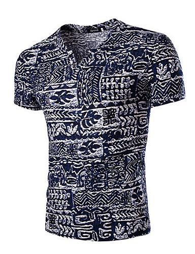 Tee-shirt Homme,Imprimé Sports Décontracté / Quotidien Bohème Manches Courtes Coton