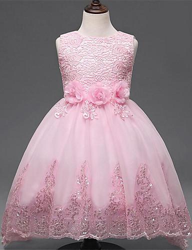 שמלה ריון כל העונות ללא שרוולים ליציאה אחיד הילדה של