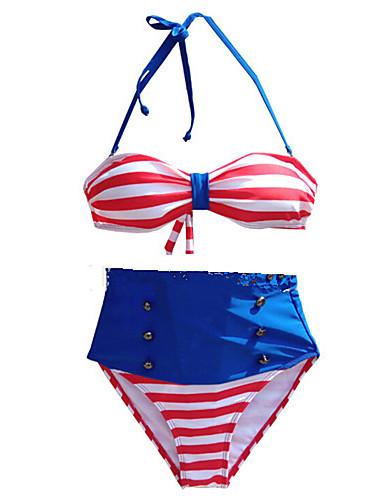 Kvinner Retro Grime Bikini Nylon Spandex